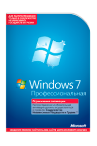 Microsoft Windows 7 Professional Edition. Профессиональная
