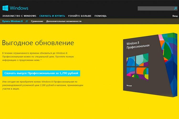 Сравнение редакций Windows 8