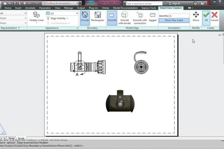 В Autodesk Synergy теперь можно создавать ассоциативные разрезы и выносные элементы для 3D-моделей, полученных из AutoCAD, Autodesk Inventor и конкурирующих продуктов