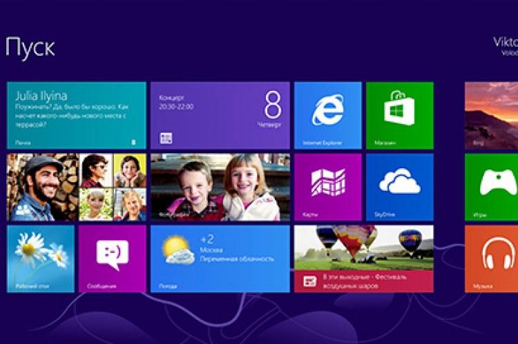 Microsoft Windows 8 Professional. Начальный экран