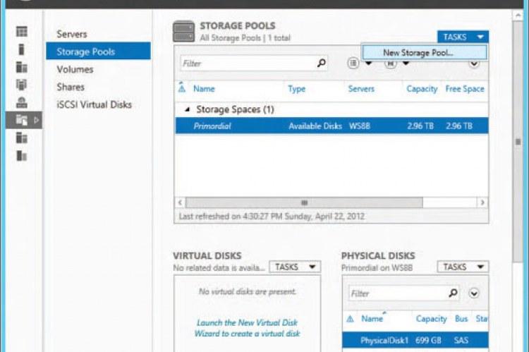 Windows Server 2012 Essentials. Управление дисками