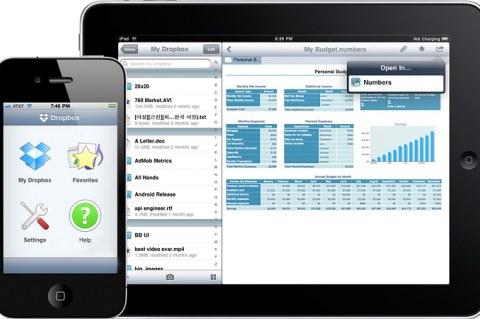 Сервис Dropbox на iPad и iPhone