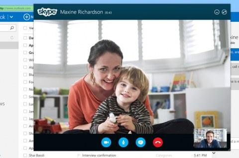 Skype в Outlook.com