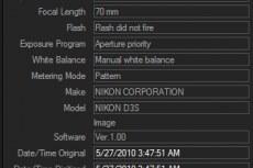 ACDSee Pro 5. EXIF данные фотоснимков