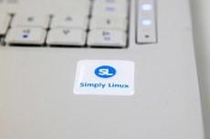 Simply Linux. Наклейка